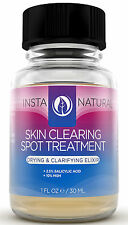 InstaNatural Acne Spot Treatment | Clear Skin | Salicylic Acid | Blemishes | 1OZ