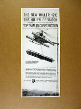 1959 Hiller 12-E 12E Helicopter transporting tower parts photo vintage print Ad