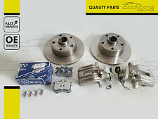 FOR AUDI A4 94-01 A6 97-05 REAR AXLE LEFT RIGHT BRAKE DISCS PADS CALIPERS NEW