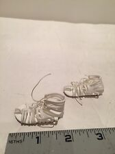 "1/6 Scale Female White Straped Sandals with Brown Soles Shoes fit 12"" figure"