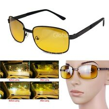 Classic Night Vision Men Women Driving Glasses Goggles Yellow Lens Eye-glasses