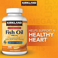 Kirkland Signature Omega-3 Fish Oil Concentrate 1000 mg, 400 Softgels New