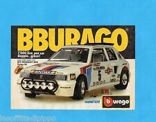 TOP987-PUBBLICITA'/ADVERTISING-1987- BURAGO - PEUGEOT 205 TURBO 16 Scala 1:24