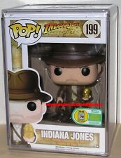 FUNKO POP 2016 SDCC INDIANA JONES #199 with IDOL BOOTH EXCLUSIVE Figure IN STOCK