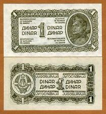 Yugoslavia, 1 Dinar, 1944, Pick 48a, WWII, UNC
