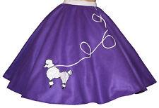 """Purple FELT 50s Poodle Skirt _ Adult Size MEDIUM _ Waist 30""""- 37"""" _ Length 25"""""""