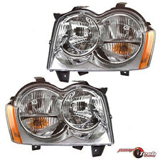 Headlights Headlamps Pair Set for 05-07 Jeep Grand Cherokee
