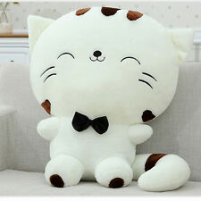 Cute Plush Stuffed Toy Fortune Cat Kitty Tail Gift Doll High Sofa Pillow Yellow
