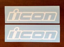 "ICON DECALS STICKERS ★2 Pack★ LARGE SIZE 8"" Track Sport Stunt Race Bike Sponsor"