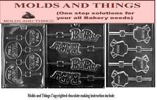 It's a Girl Lolly Chocolate Candy Mold, Baby Shower Soap Mold Baby Onesie Soap c