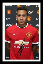 MEMPHIS DEPAY - MANCHESTER UNITED AUTOGRAPHED SIGNED & FRAMED PP POSTER PHOTO