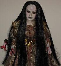 Creepy Horror Gothic Scary Ooak Porcelain Art Doll 'Lizzy Borden' Axe L. Ganci