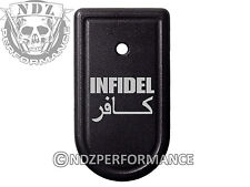 for Springfield Armory XDS 9mm 45ACP Magazine Mag Plate BK Infidel Sanscript