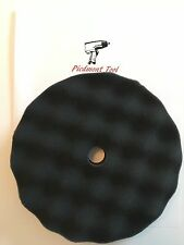 "PFB08 8"" Buffing Foam Pad for Finishing (Black) for Hook and Loop Backing Pad"
