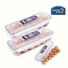 Lock&Lock Egg Container Carton Tray Stackable Hard Boiled Keeps Fresh Safe Cases