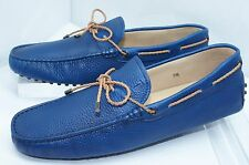 Tod's Mens Blue Shoes Woven Lace Loafers Slip Ons Drivers Size 10.5 Leather NIB