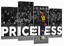 "Lionel Messi/Priceless/set of 4 Giclee canvas prints/ 32""x 20"""
