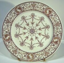 2 ASSIETTE ANCIENNE T C Brown Westhead Moore & Co 19th century Transferware head