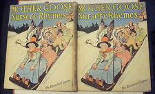 VINTAGE MOTHER GOOSE NURSERY RHYMES & COLOURING BOOK ILLUS CHARLES ROBINSON