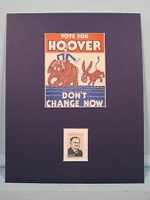 Herbert Hoover runs for President in 1932 honored by his own stamp