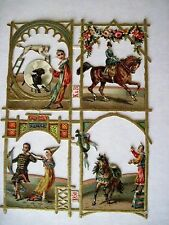 Vintage Die-Cuts w/Circus Pictures of Horses, Dogs & Clowns *