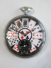 OMEGA Ω BLACK PLAYING CARDS DIAL pocket WATCH 15 jewels SWISS, 38.5LT1