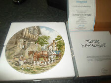 Morning In The Farmyard by John L Chapman BOXED+Certificate Collectors Plate
