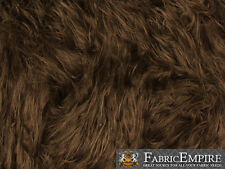 """Faux Fur Fabric Long Pile Gorilla BROWN / 60"""" Wide / Sold by the yard"""