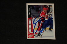 HOF DINO CICCARELLI 1996-97 UD COLLECTOR'S CHOICE SIGNED AUTOGRAPHED CARD #88