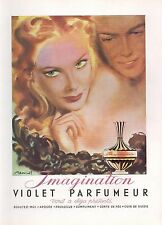 ▬► PUBLICITE ADVERTISING AD PARFUM PERFUME Imagination VIOLET Parfumeur Brénot