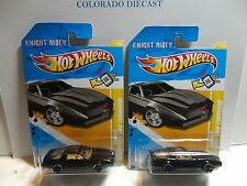 2012 Hot Wheels #17 Black KITT Knight Industries 2000 w/Tan & Yellow interiors