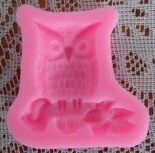 BIG BODY OWL SHAPE SILICONE FONDANT MOULD  CAKES SOAP CANDLES DECORATION
