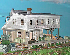 BOX & CRATE FACTORY N Model Railroad Structure Unpainted Laser Wood Kit NS30015