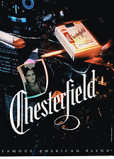 PUBLICITE ADVERTISING 064 1991  CHESTERFIELD   cigarettes
