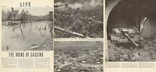 1944 WW 2 article The Ruins of Cassino wrecked Stug Tank Destroyer Rapido 071016
