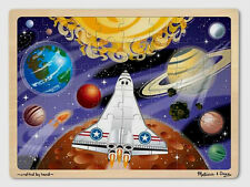 SPACE VOYAGE 48pc WOODEN TRAY JIGSAW Melissa & and Doug