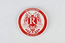 Rushmore Academy Crest large button,Wes Anderson, Jason Schwartzman, Max Fischer