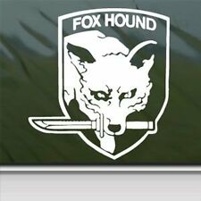 METAL GEAR FOX HOUND white Vinyl Decal Car Truck Window laptop Sticker