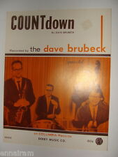 Countdown Dave Brubeck Quartet 1962 Jazz sheet music