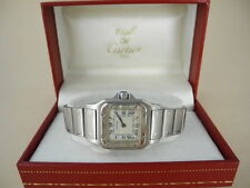 Cartier Santos Stainless  Steel quartz ladies watch w Box Wonderful  Santo Watch