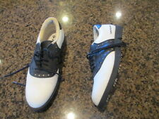 Dunlop Golf Oxford Shoes Black White Leather Golf Cleats men's 7 M