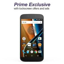 Moto G (4th Generation) - Black - 16 GB - Unlocked - Prime Exclusive - with L...