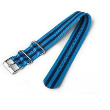 NEW-TIMEX 20MM WEEKENDER BLUE STRIPE NYLON REPLACEMENT BAND,STRAP T7B990