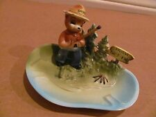 VINTAGE VERY RARE NORCREST JAPAN CERAMIC HUMOROUS SMOKEY BEAR ASHTRAY