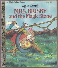 Children's Little Golden Book MRS. BRISBY AND THE MAGIC STONE The Secret of NIMH