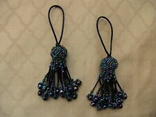 SALE on TWO Custom Made Glass Beaded Turkknot Key Tassels - Home Decor