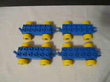 Lego Duplo Train Car Vehicles Building Lot Set   Blue & Yellow Wheels BRAND NEW