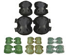 Airsoft Tactical X Shape Knee&Elbow Protective Pads Set 4 Colors BK/OD/CB/ACU A