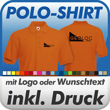 POLO SHIRT, orange, Fruit of the Loom, inkl. Wunschtext / Logo Druck Werbedruck