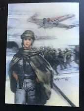 LEIA & X-WING 1997 Topps 3d-i STAR WARS Lenticular Chase Card #01 STARFIGHTER